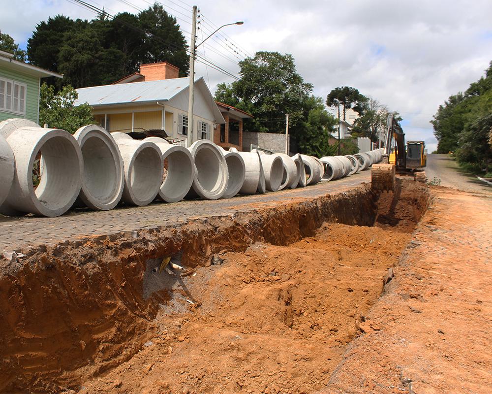 Nova macrodrenagem na Carlos Gomes visa solucionar problemas de alagamento na região da Dist. De Bebidas Delai