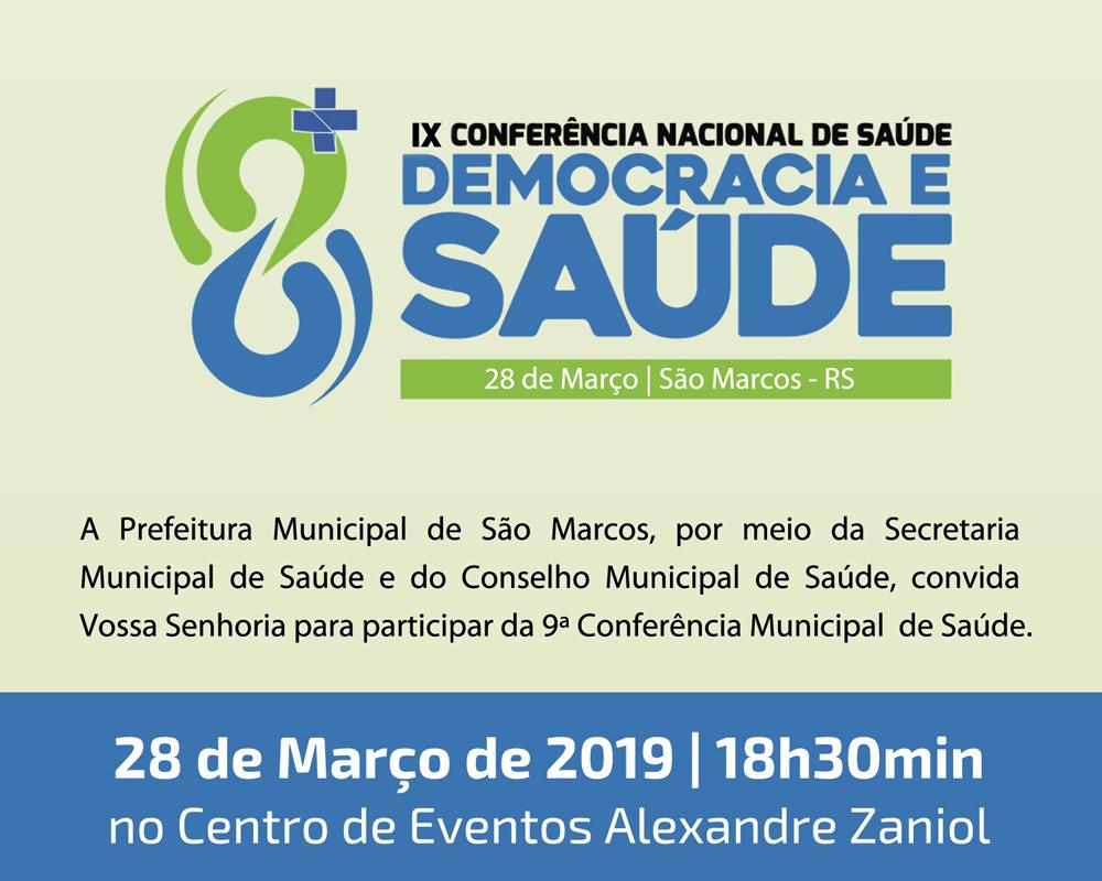 São Marcos terá Conferência Municipal de Saúde para discutir questões do SUS