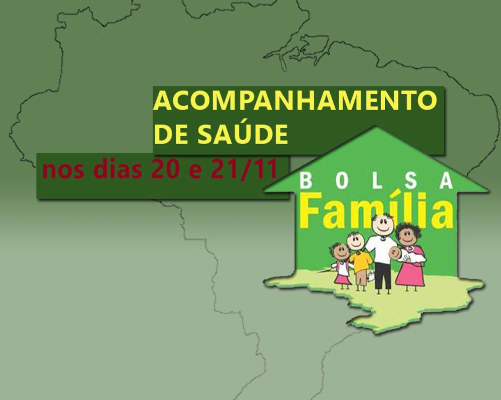 Acompanhamento de saúde do Bolsa Família será realizado nos dias 20 e 21 deste mês