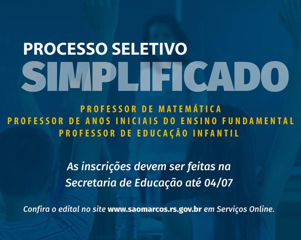 Secretaria de Educação abre vagas para Cadastro Reserva