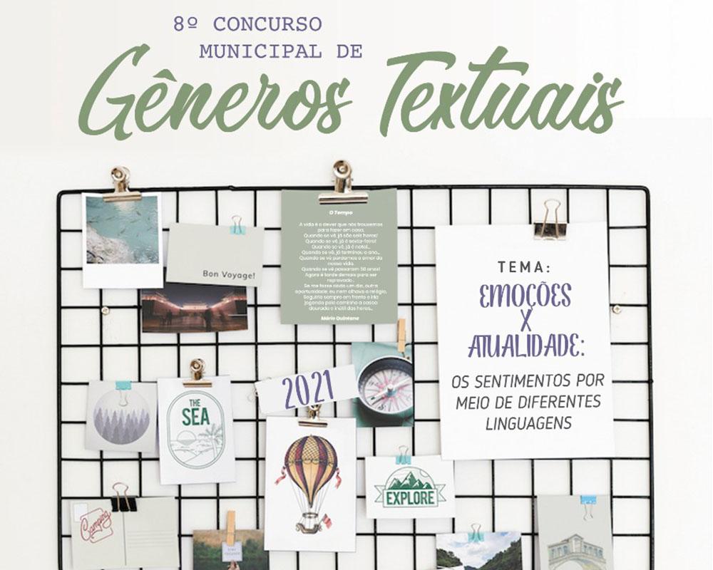 Secretaria de Educação lança hoje concurso municipal sobre gêneros textuais
