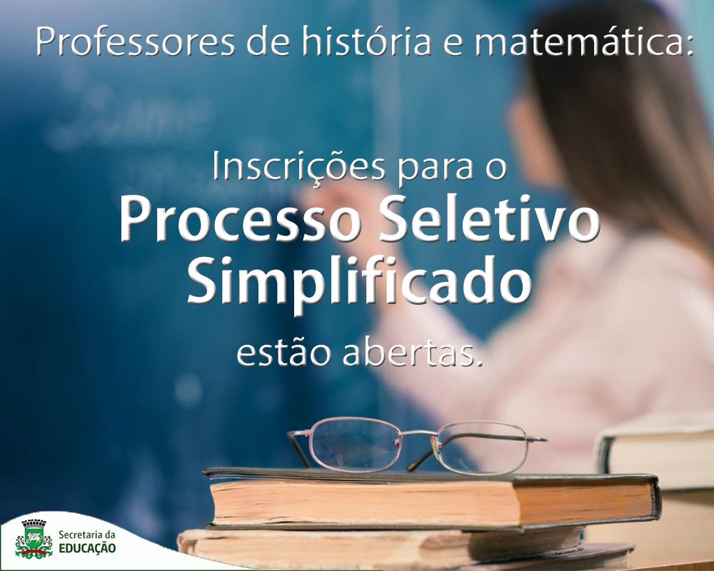 Secretaria de Educação inicia Processo Seletivo Simplificado para contratação de professores por prazo determinado