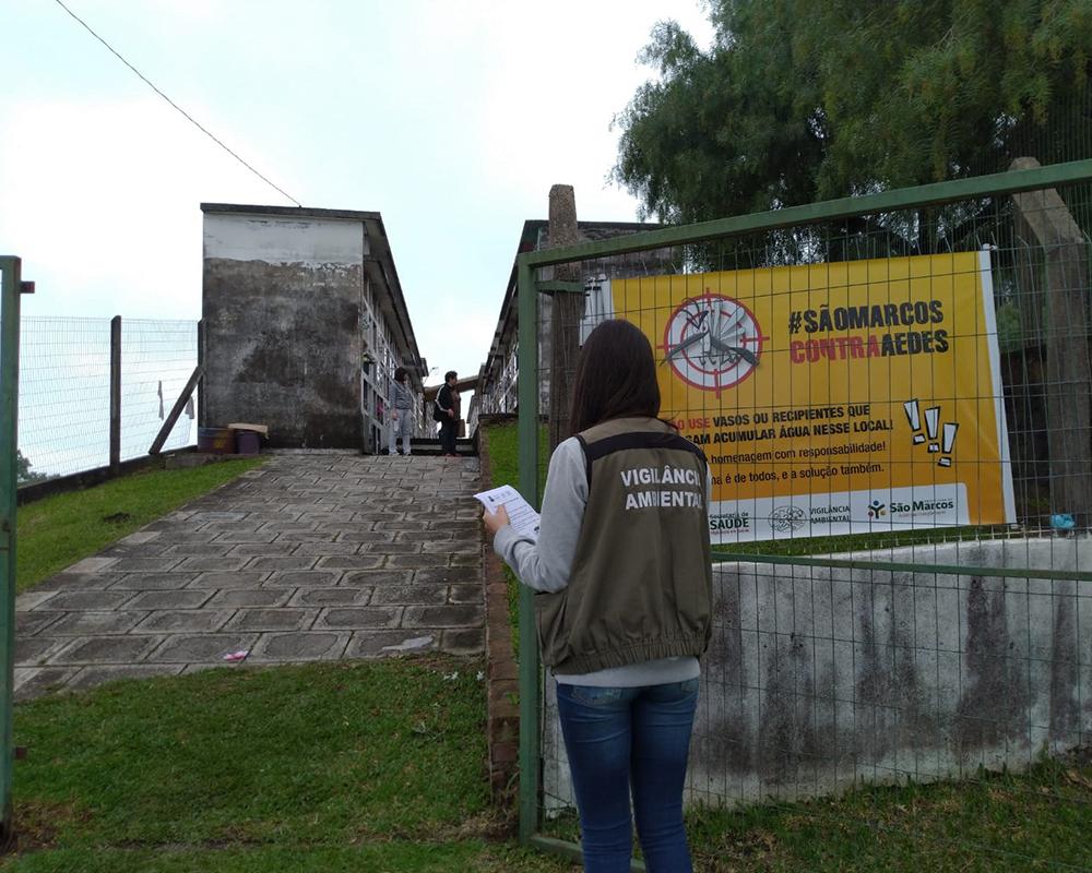 Devido ao Dia de Finados, Secretaria da Saúde realiza ações preventivas contra a Dengue em cemitérios