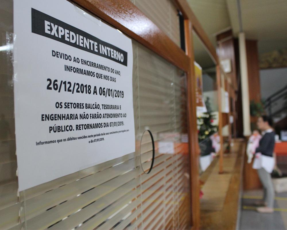 Horários de atendimento terão alterações temporárias na Prefeitura
