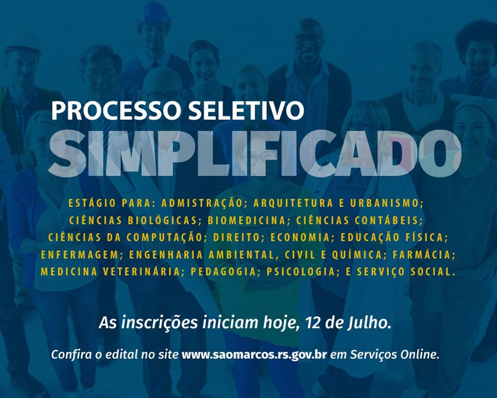 Prefeitura abre inscrições de PSS para estagiários