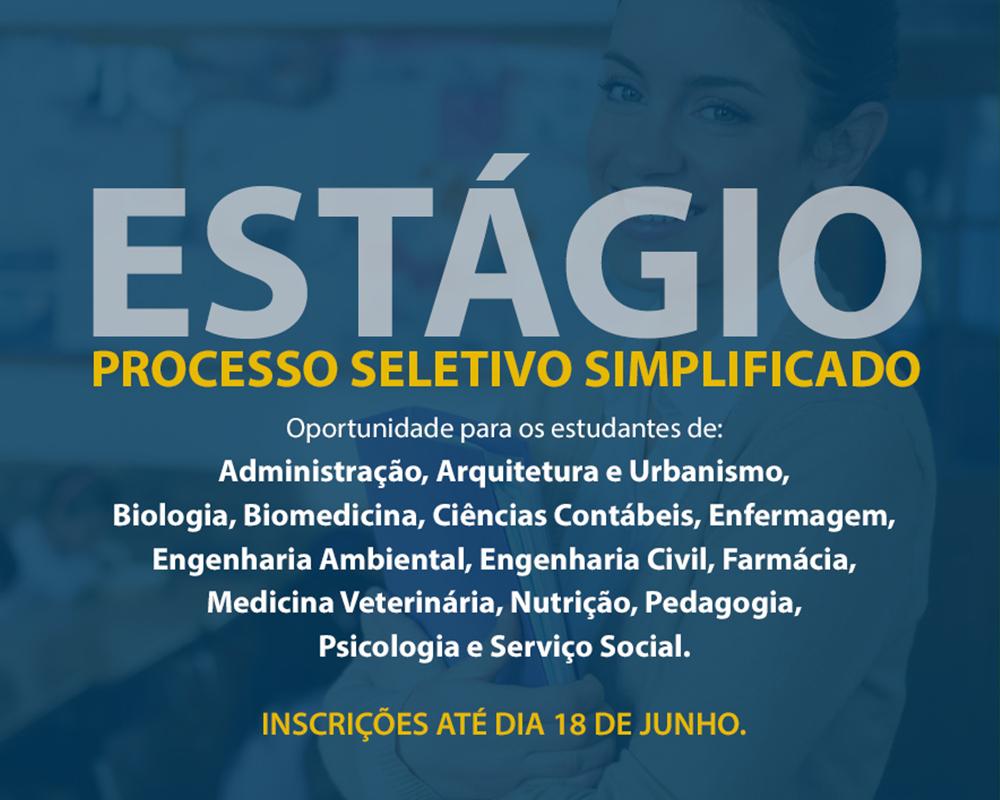 Inscrições para Processo Seletivo Simplificado de estagiário estão abertas até 18 de junho