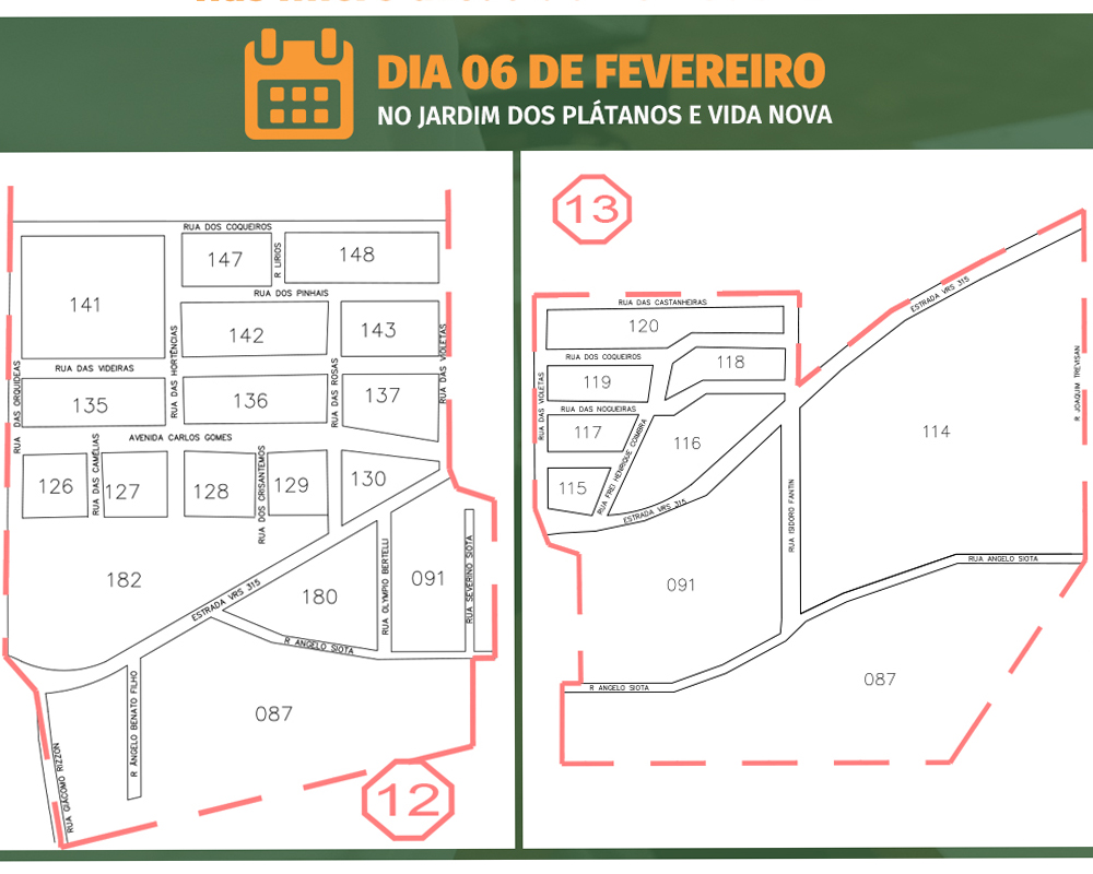 Equipe da Secretaria de Saúde estará neste sábado (06) no bairro Jardim dos Plátanos e Vida Nova para realizar o cadastro de saúde da população