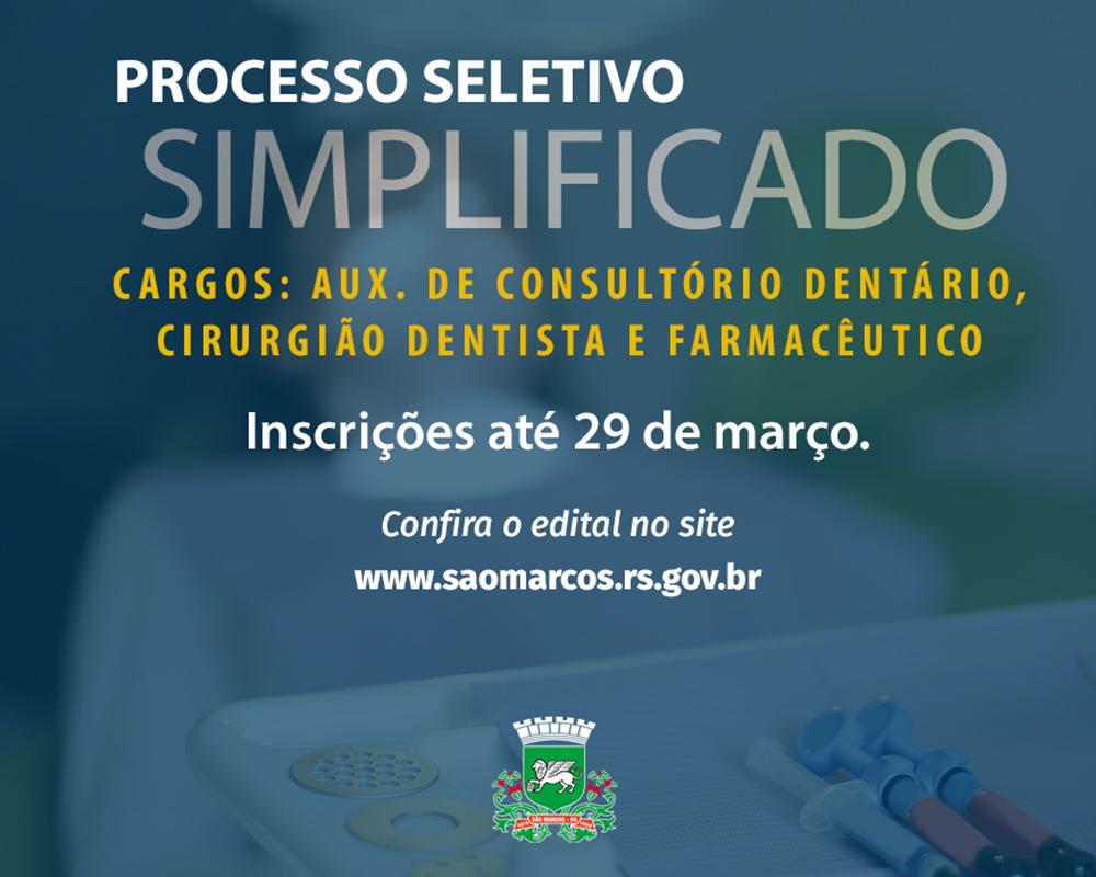 Inicia hoje período de inscrições para processo seletivo na área da saúde