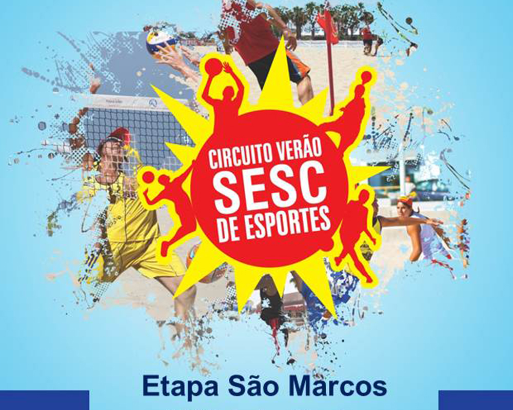 São Marcos está na rota do Circuito Verão SESC de Esportes
