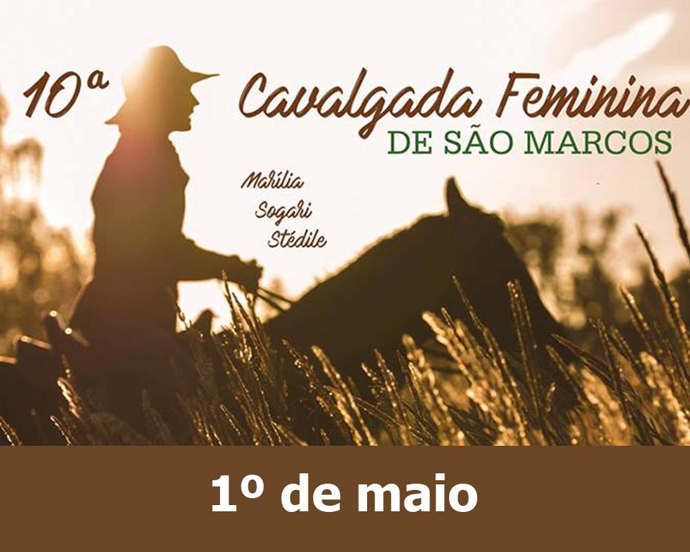 A Cavalgada Feminina Marília Sogari Stédile será realizada na próxima quinta-feira (01)