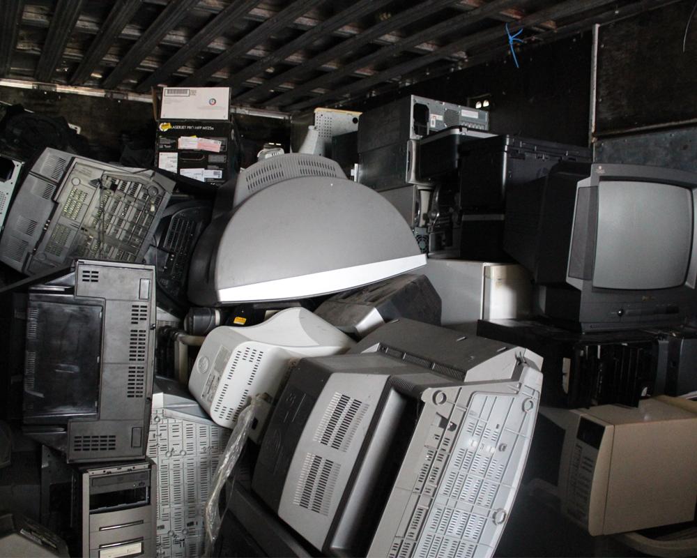 Este ano, cerca de 9 toneladas de resíduos eletrônicos já foram coletados em São Marcos