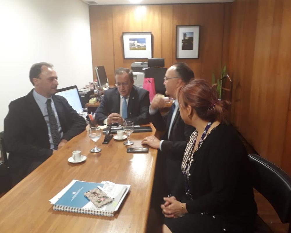 Prefeito de São Marcos esteve em Brasília para buscar recursos para o município