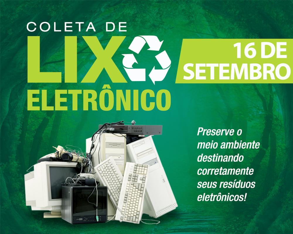 Na próxima quarta-feira (16) ocorre a terceira Coleta de Resíduos Eletrônicos de 2020 em São Marcos