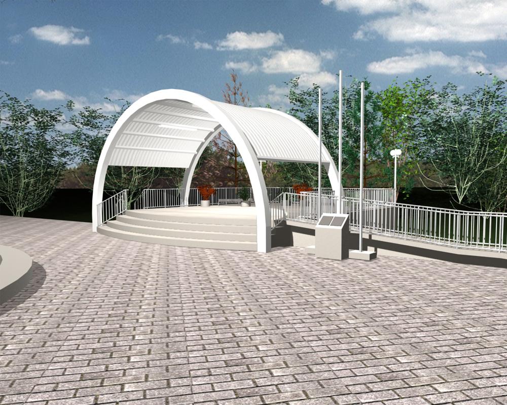 Nova concha acústica, na Praça Dante Marcucci, deve ficar pronta até final de Julho