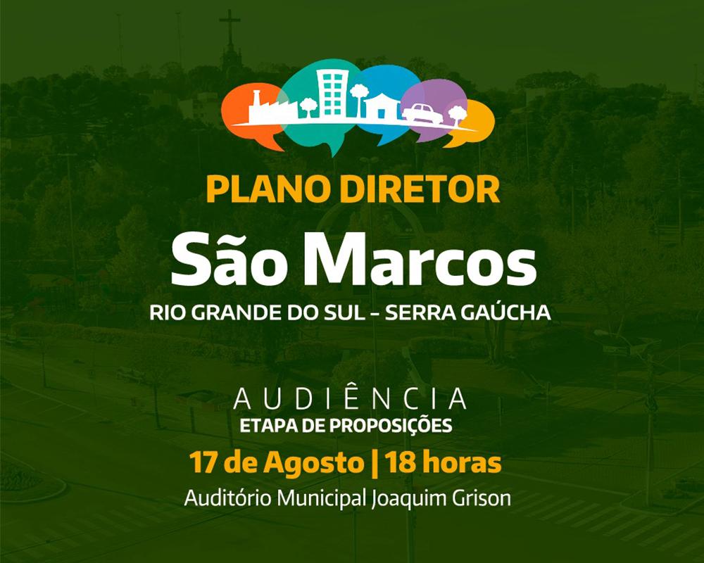 Prefeitura convida a comunidade para discutir Plano Diretor de São Marcos