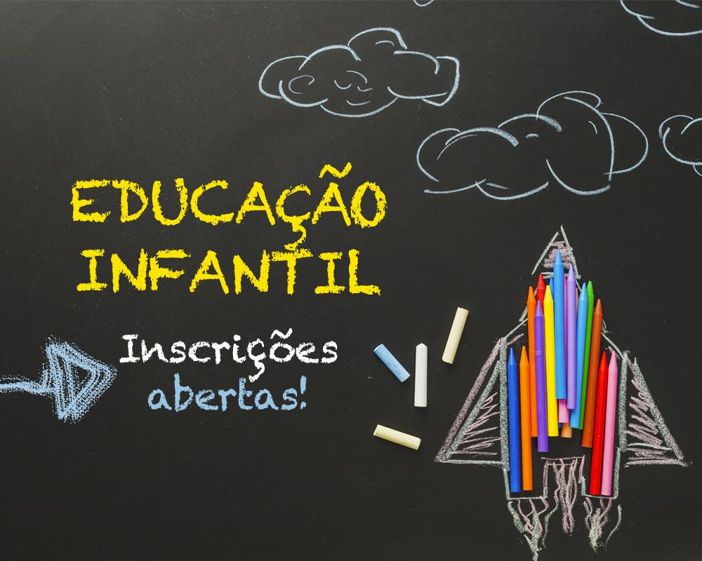Estão abertas as inscrições para vagas na Educação Infantil