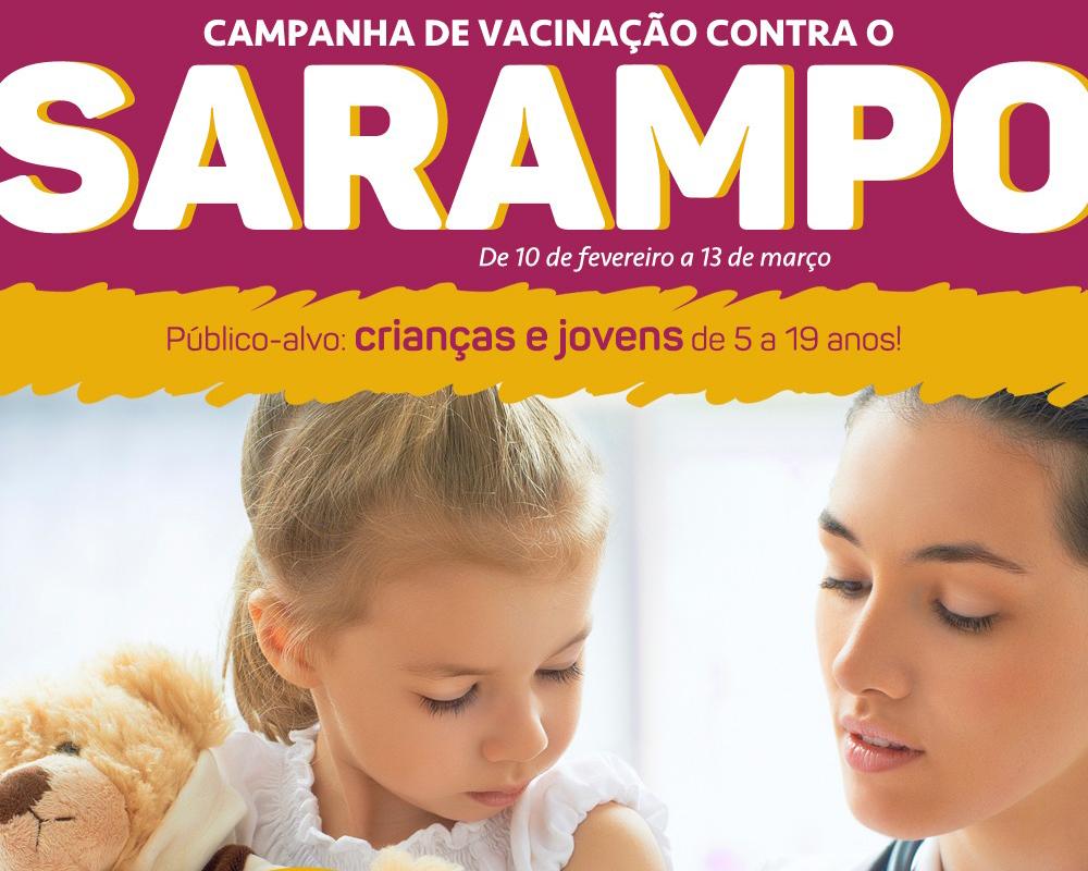 Campanha Nacional de Vacinação contra o Sarampo inicia segunda-feira (10)