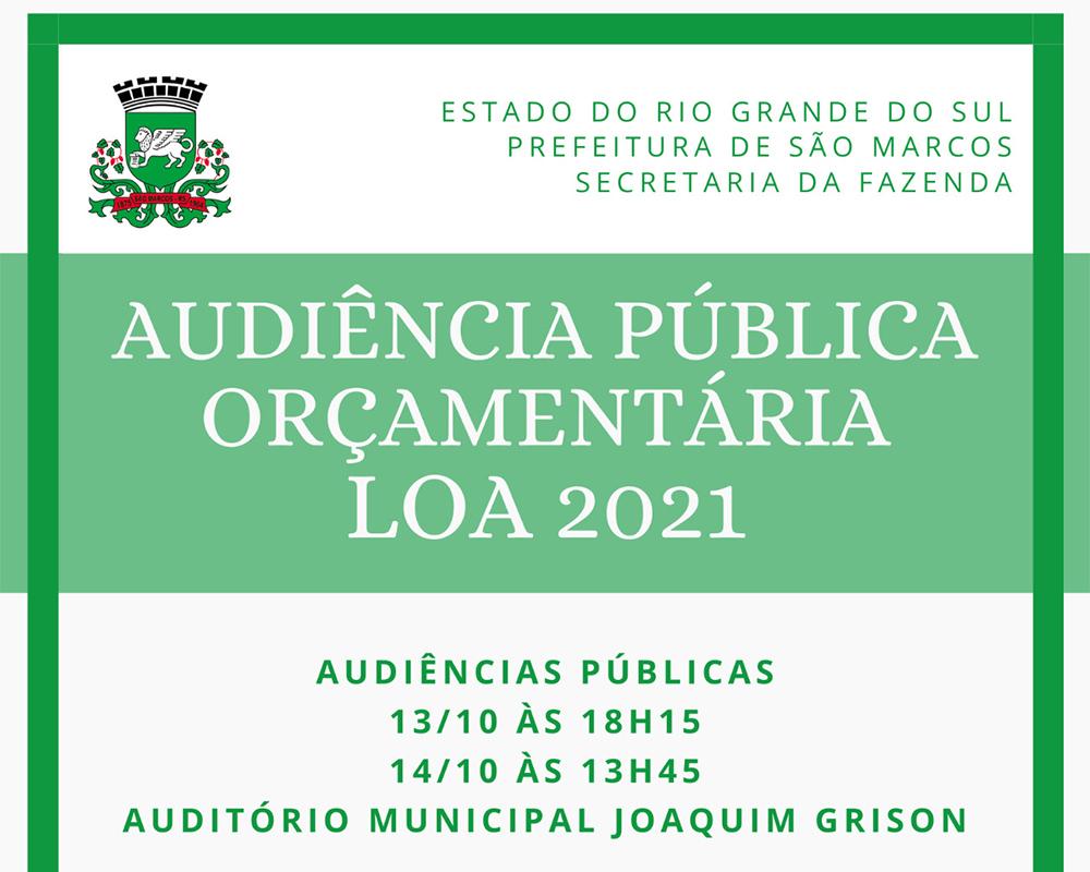 Audiências públicas da LOA serão realizadas hoje e amanhã (14)