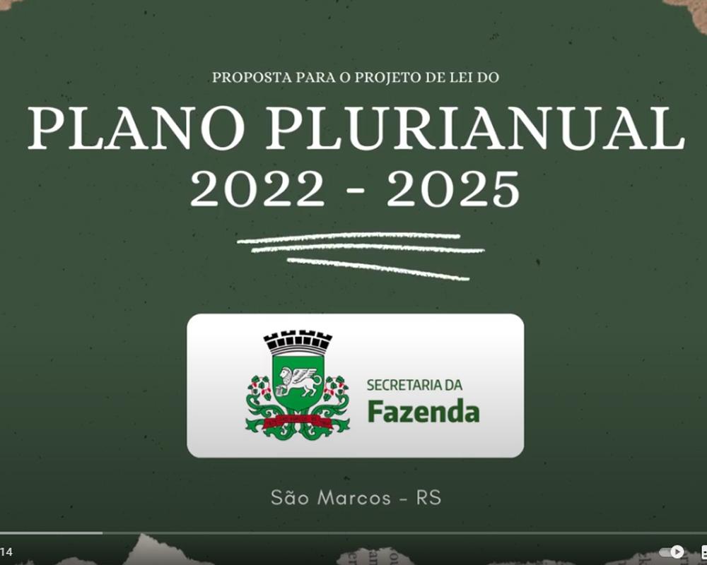 A proposta do PL para o Plano Plurianual 2022-2025 está disponível de forma online para a população são-marquense