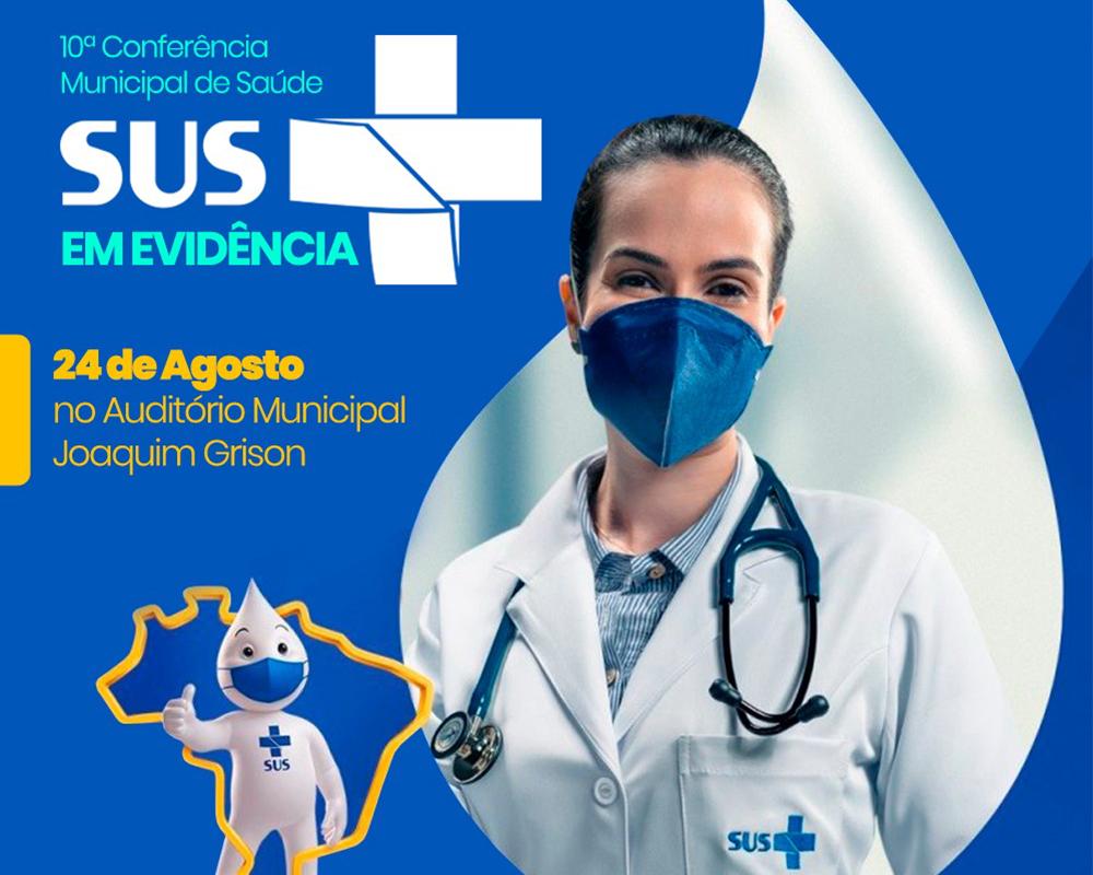 10ª Conferência Municipal de Saúde será realizada em 24/08