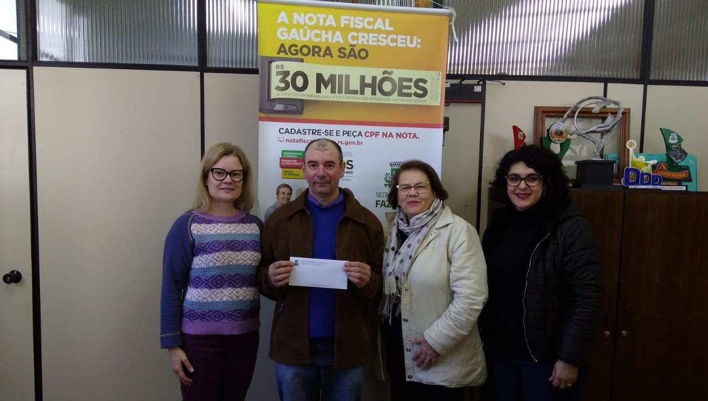 Mais um ganhador recebeu prêmio de R$ 500 pelo programa NFG