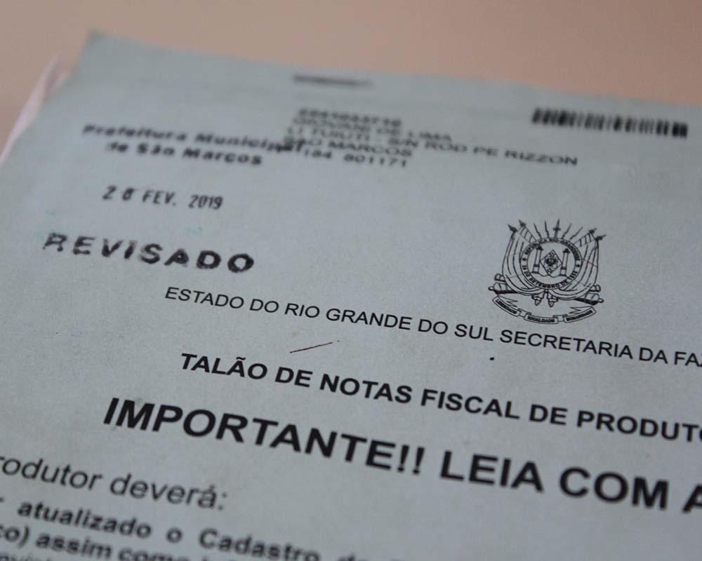 Agricultores que ainda não revisaram o talão de notas têm até o final deste mês para comparecer ao setor de ICMS da Prefeitura