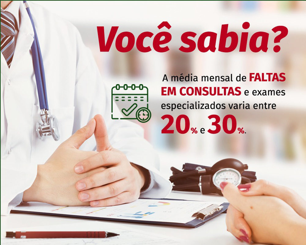 Secretaria de Saúde alerta para faltas em consultas