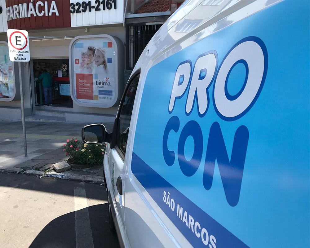 PROCON fiscaliza farmácias de São Marcos para evitar preços exorbitantes em álcool gel e máscaras