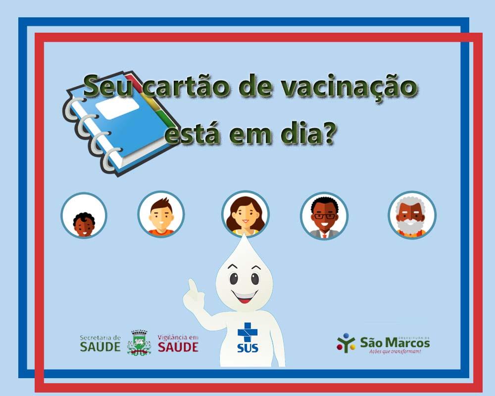 Vigilância em saúde alerta: período de férias pode ser aproveitado para atualizar a carteirinha de vacinação