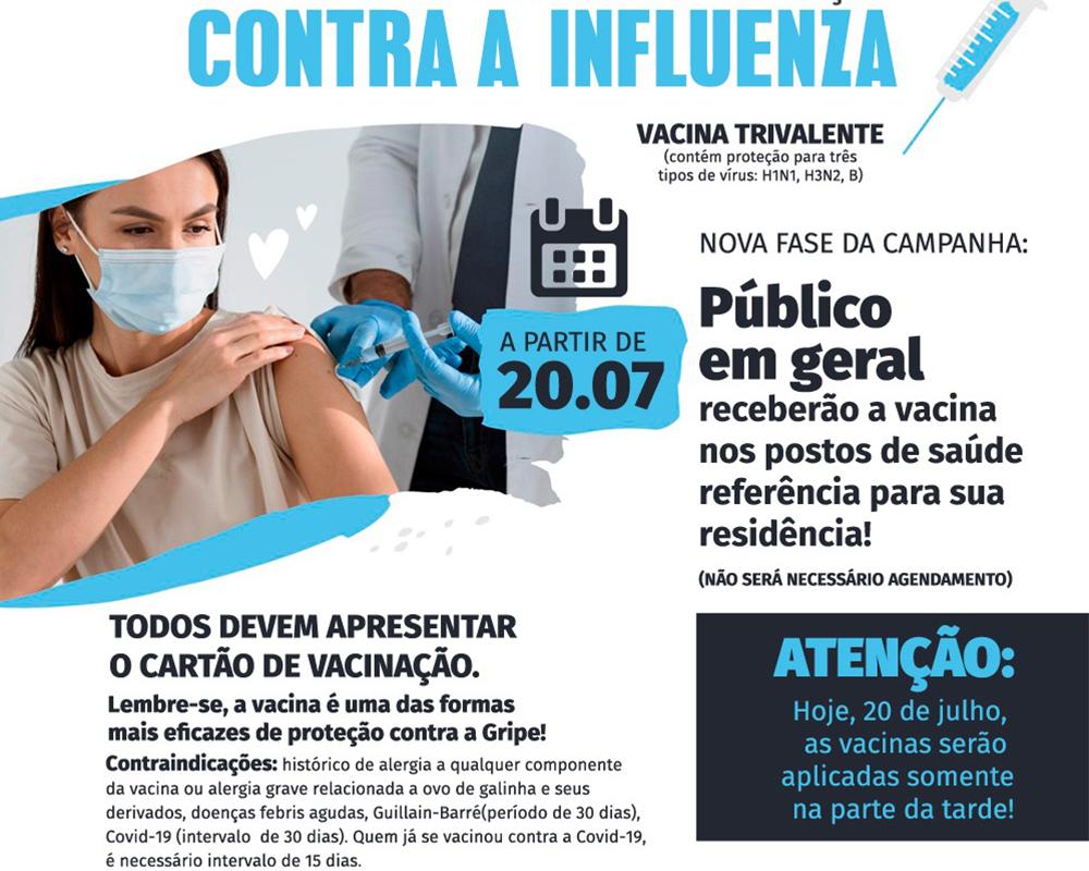 Após recebimento de mais doses do imunizante contra a gripe, São Marcos amplia vacinação para a população em geral