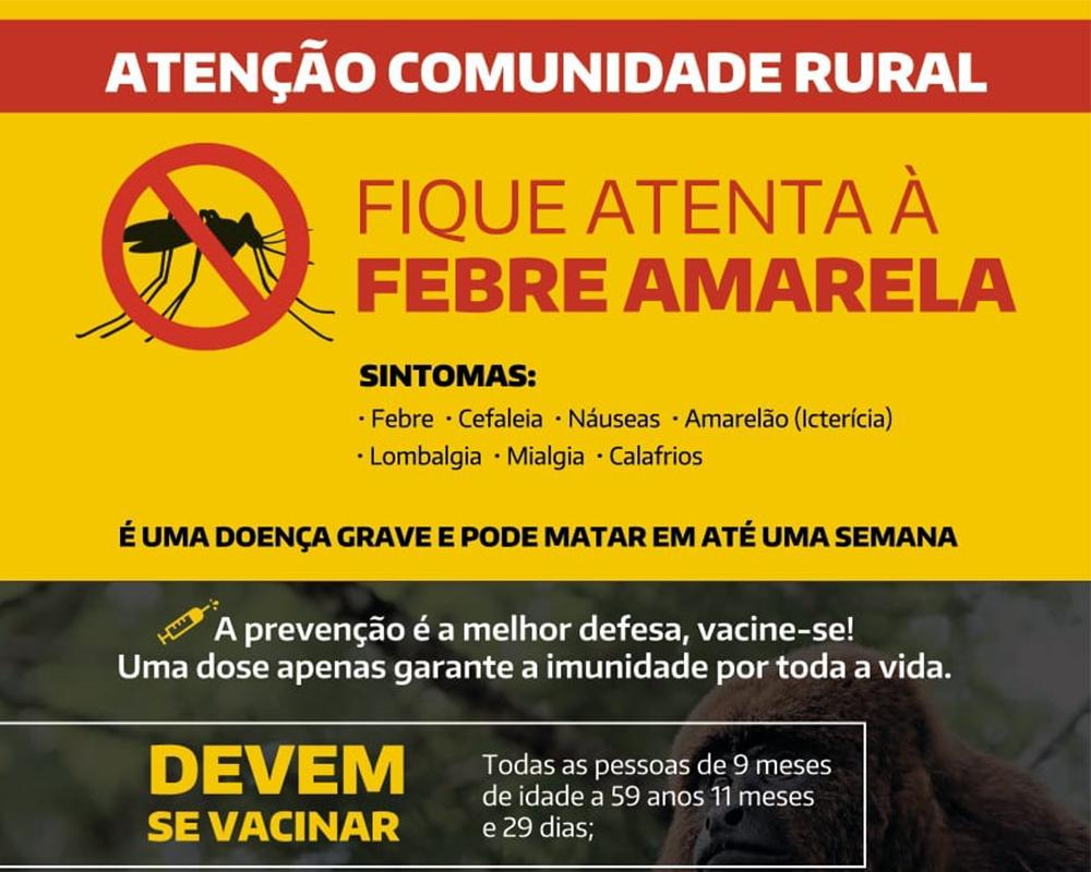 Vigilância em Saúde realiza censo vacinal de febre amarela no interior de São Marcos