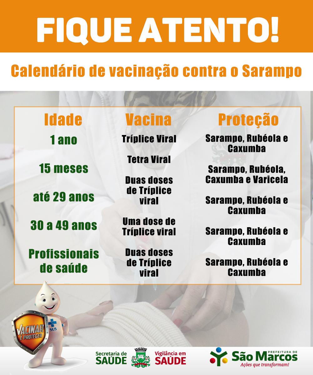 A 2ª etapa da Campanha de Vacinação Contra o Sarampo inicia 18/11