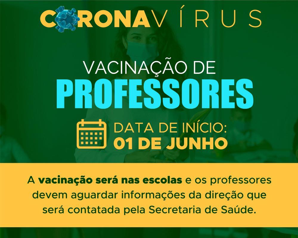 Vacinação dos professores inicia nesta terça-feira (01) em São Marcos