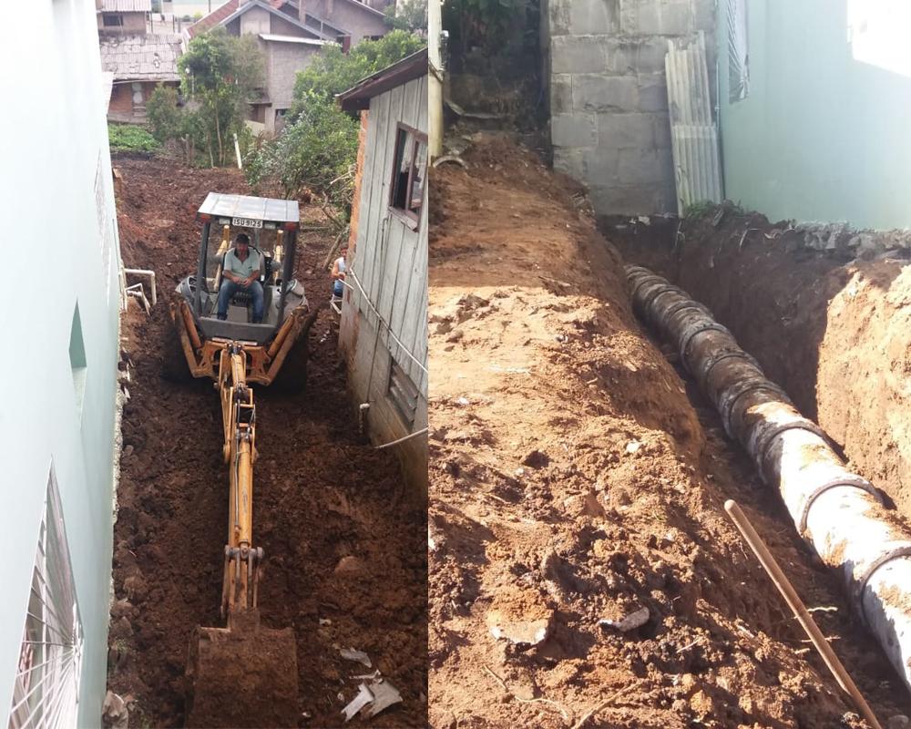 Secretaria de Obras substitui encanamento no Bairro Francisco Doncatto
