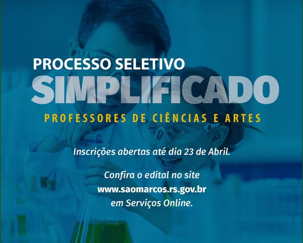 Processo Seletivo Simplificado abre vagas para Cadastros reservas na área da educação