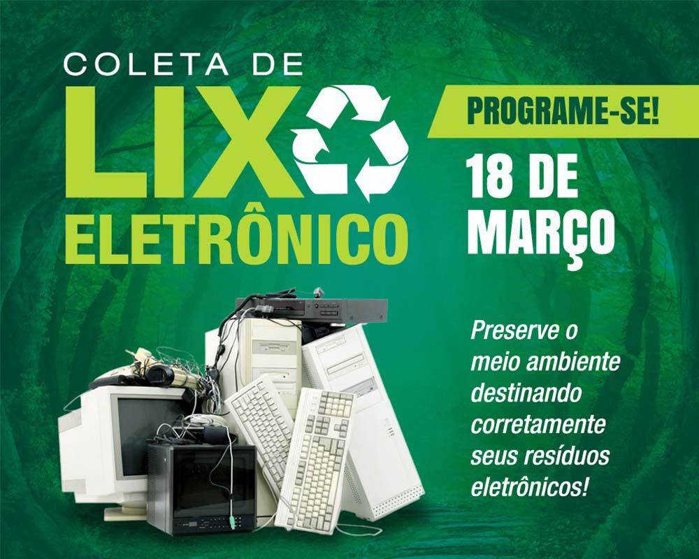 Primeira Coleta de Resíduos Eletrônicos de 2020 ocorre na próxima quarta-feira (18)