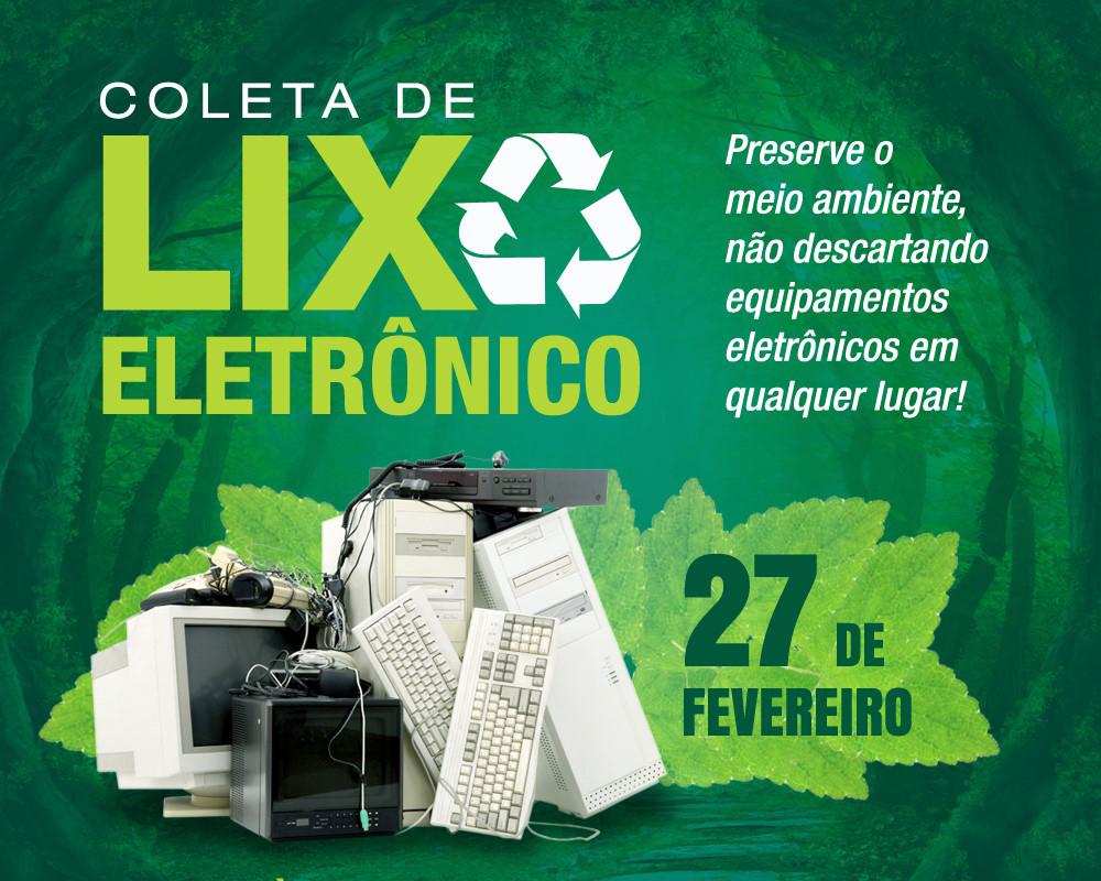 1ª coleta de resíduos eletrônicos do ano acontecerá no próximo dia 27 de fevereiro