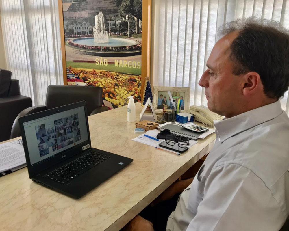 São Marcos participa de encontro online para assinatura do Termo Operacional para futura compra de vacinas contra a Covid-19