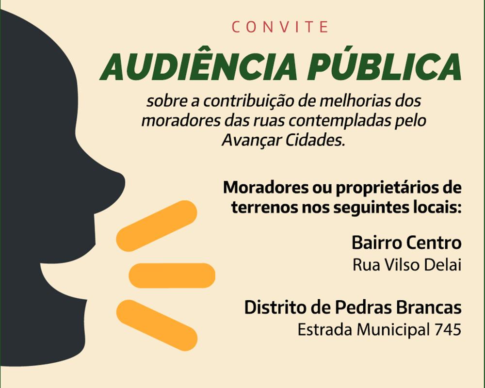 Próxima audiência pública do Avançar trata sobre a rua Vilso Delai e a Estrada Municipal 745