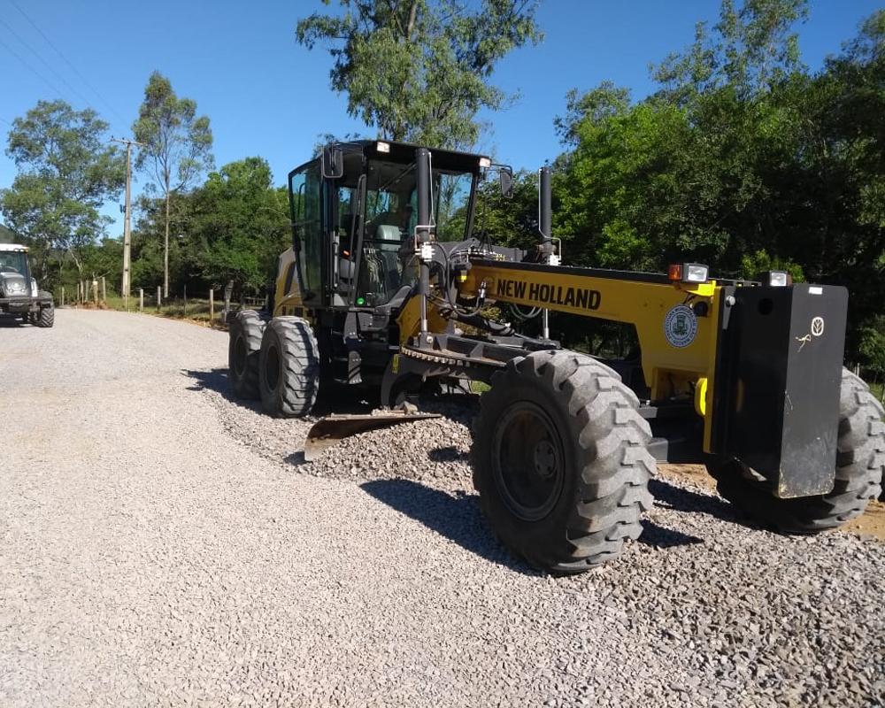 Preparação para o asfalto está em andamento