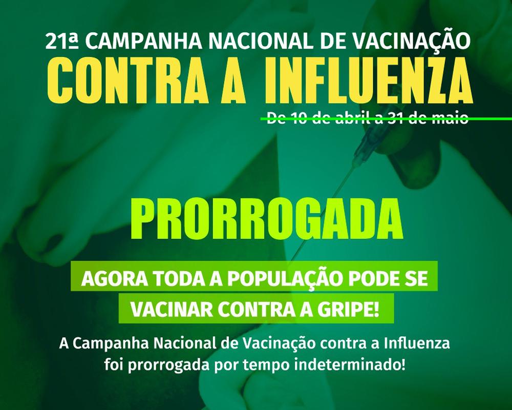 Campanha de Vacinação contra a Influenza disponibiliza vacinas ao público geral