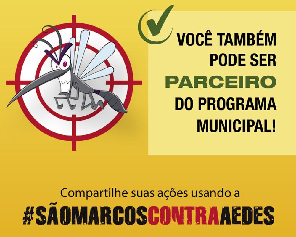 Secretaria de Saúde lança a campanha #saomarcoscontraaedes