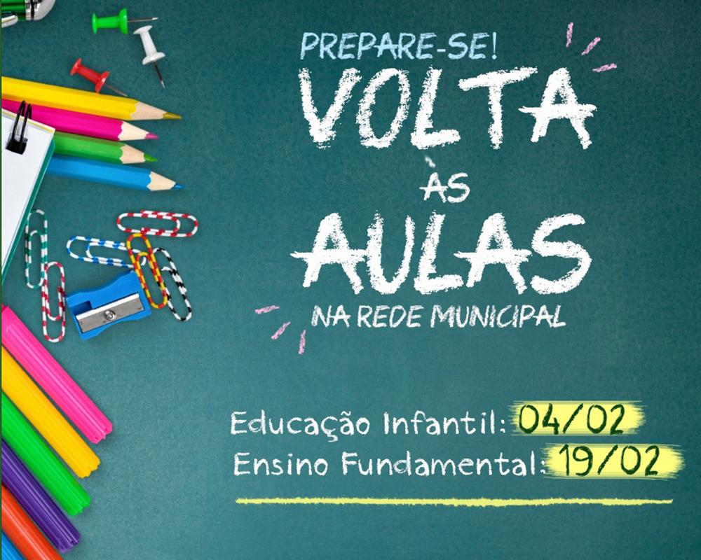 Ano letivo da rede municipal de educação iniciará em fevereiro