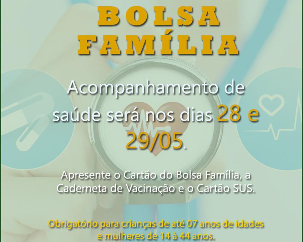 Acompanhamento de Saúde pelo Bolsa Família inicia hoje (28)