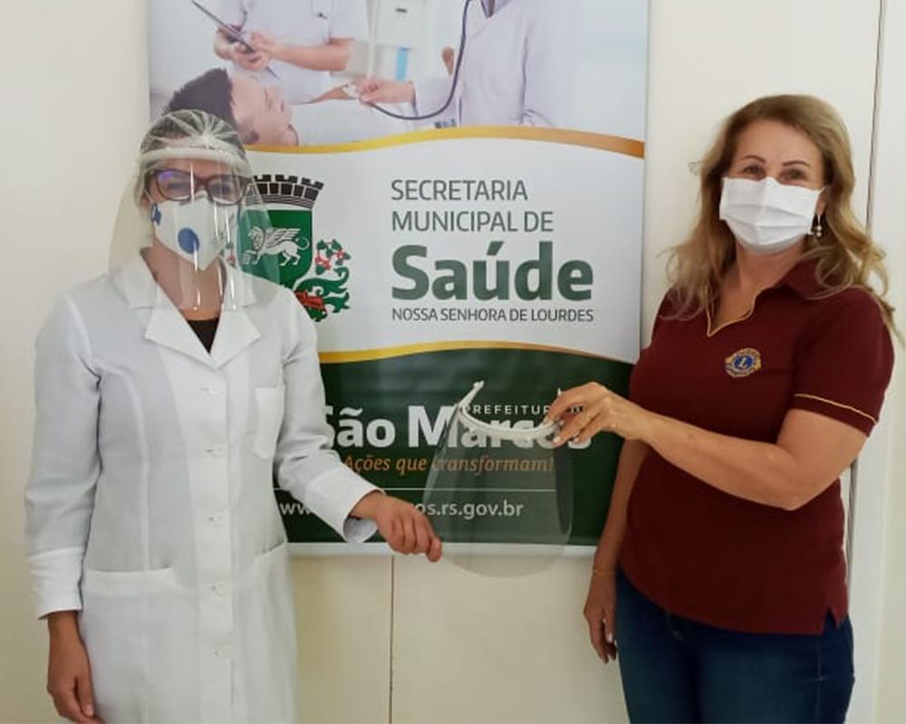 Secretaria Municipal de Saúde (SMS) recebe doação de protetores faciais